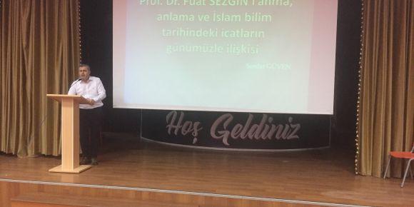 Prof.Dr. Fuat SEZGİN'i anma programı yapıldı