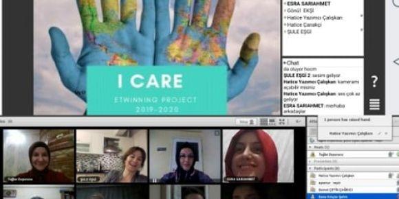 I Care (Önemsiyorum) isimli etwinning projemizin ilk webinarını yaptık