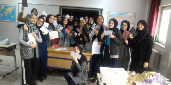 e Twinning Projesinde Partner Ülkemiz Hırvanistan'dan Ülke Kutumuz Geldi