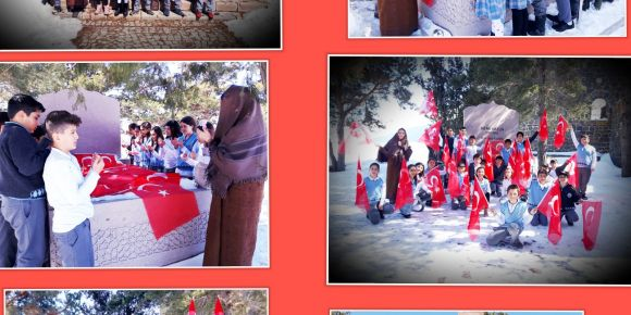 12 Mart Erzurum'un Kurtuluşu ve İstiklal Marşı'nın Kabulü münasebetiyle Tabyalar'daydık