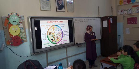 Beslenme Dostuyuz Sağlıklıyız Etwinning projesinde Eğitim