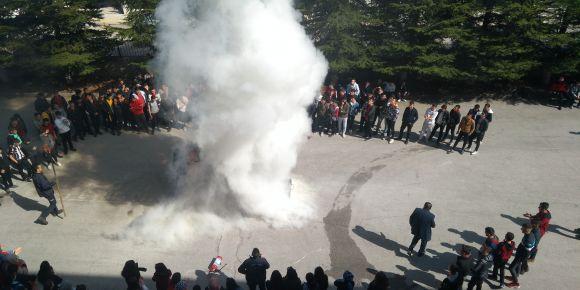 Okulumuzda yangın tatbikatı yapıldı