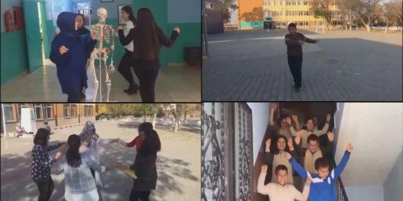 Çerikli Atatürk İlkokulu / Ortaokulu öğretmen ve öğrencileri 'Muallim' Klibi hazırladı