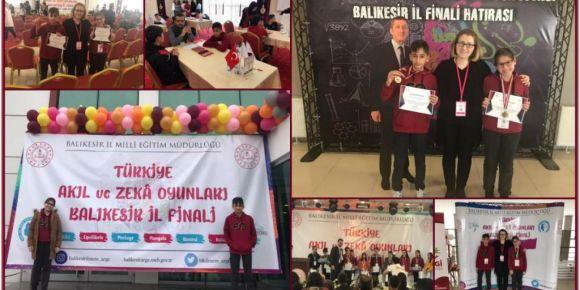 Türkiye Akıl ve Zeka oyunlarında öğrencilerimiz mansiyon ve madalya ile ödüllendirildi