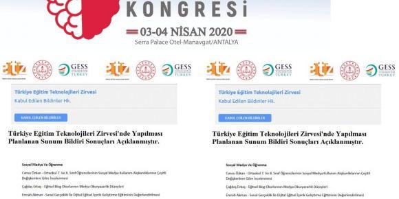 Türkiye Eğitim Teknolojileri Zirvesi ve Eğitim, Ahlak Kongresi Ertelenmiştir