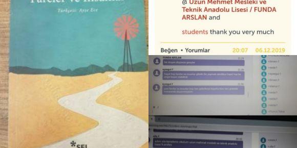 'Critical Thinking Skills' adlı eTwinning projemizde online kitap analizi