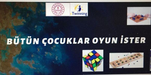 """Kazım Yurdalan İlkokulu 'nda """"Oyun İster Çocuklar"""" eTwinning projesi"""