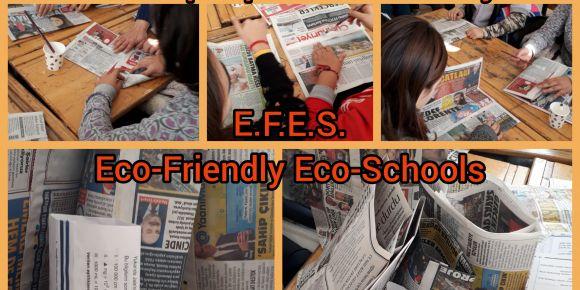 E.F.E.S. Ocak ayı kağıt kese yapımı çalışması