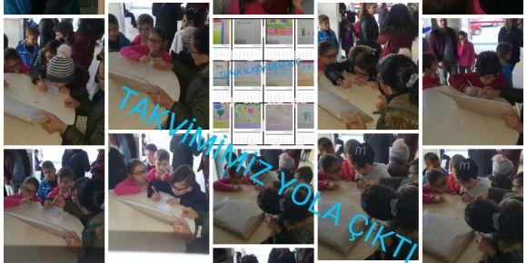 Tuna İlkokulu 4/C sınıfı öğrencileri  yeni yıl takvimi hazırladılar