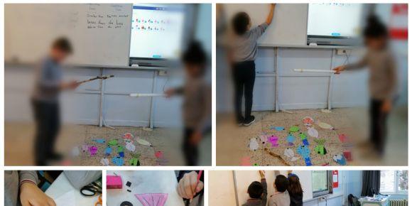 Bisaş Ortaokulu oyunlarla İngilizce öğreniyor