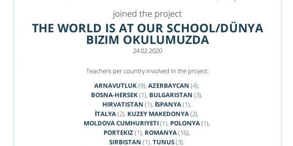 The World is at our school/ Dünya Bizim Okulumuzda eTwinning Projesi