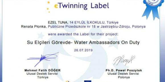 Su Elçileri Kulübü Görevde- Water Ambassadors Club On Duty Projesi