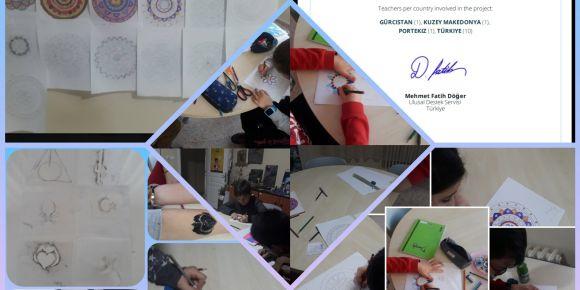 Hamzabey Bilim ve Sanat Merkezi Masayı çizmiyorum Mandala Çiziyorum E-Twinning projemiz
