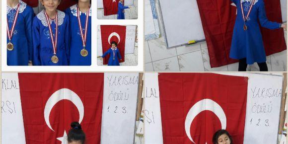Şehit Muhammed Said Çelik İlkokulu 3/A Sınıfı İstiklal Marşı Yarışması