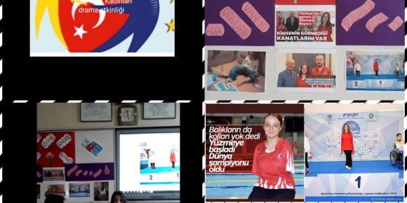 Harften Öte Kadın Etwinning projesi Türk kadınları drama etkinliği